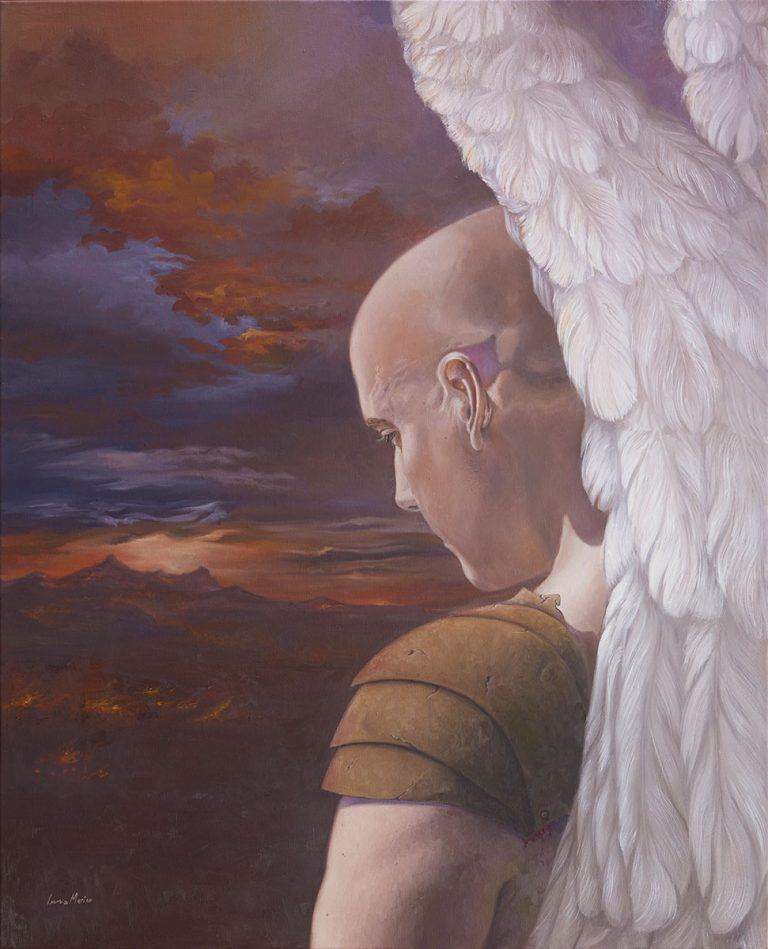 Angel del Apocalipsi. Pintura Realista. Inma Merino