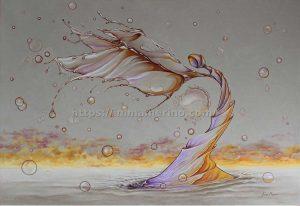 Elemental de agua- Oleo sobre lienzo